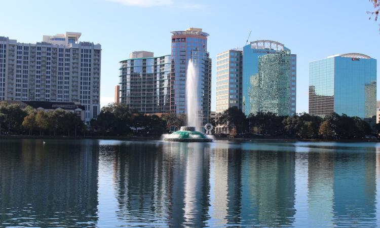 """File:Lake Eola and Orlando skyline.jpg"" by Michael Rivera is licensed under CC BY-SA 4.0"